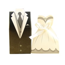 bride and groom wedding party favor paper packaging chocolate gift box cardboard