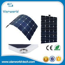 Bendable sunpower solar panel 100w , 21.3% high efficiency roll up solar panel