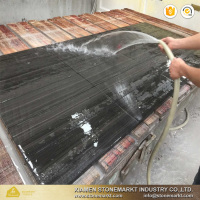 Acid wash Black wood marble tile for wall and floor