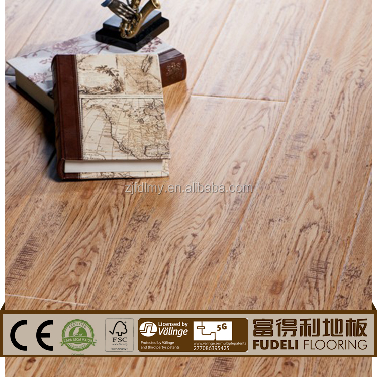 China factory Distressed german technology laminate flooring