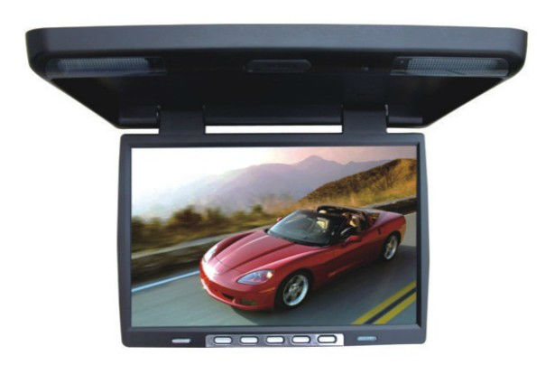 cheap 15.4 inch TFT LCD roofmount super slim car monitor with AV in
