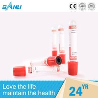 Wholesale disposable clot activator red vacuum blood collection tube