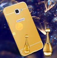 thin bright aluminum metal frame mirror cell phone case for samsung a3 a5 a7 a9