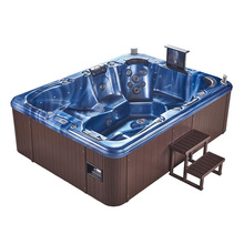 wholesale 6 persons deluxe outdoor hydro cold balboa hot tub with tv spa cover