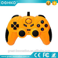 bright color PS/2 USB 2.4G wired double shock double vibration joystick for pc