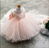 W4233 Christmas Girl Party Dress Princess Kids Children Dresses for Girls Clothes Ball Gown