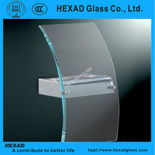 Chinese supplier hot bent tempered fish tank glass