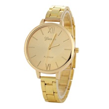 Promotion Women Luxury Bracelet Watch Geneva Brand Rose Gold Quartz Ladies Dress Watch