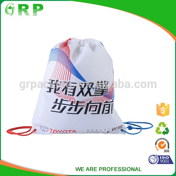 Various material cloth packing good elasticity drawstring backpack bag