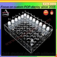 Acrylic display rack for tobacco tar perspex e-liquid display stand smoking oil display