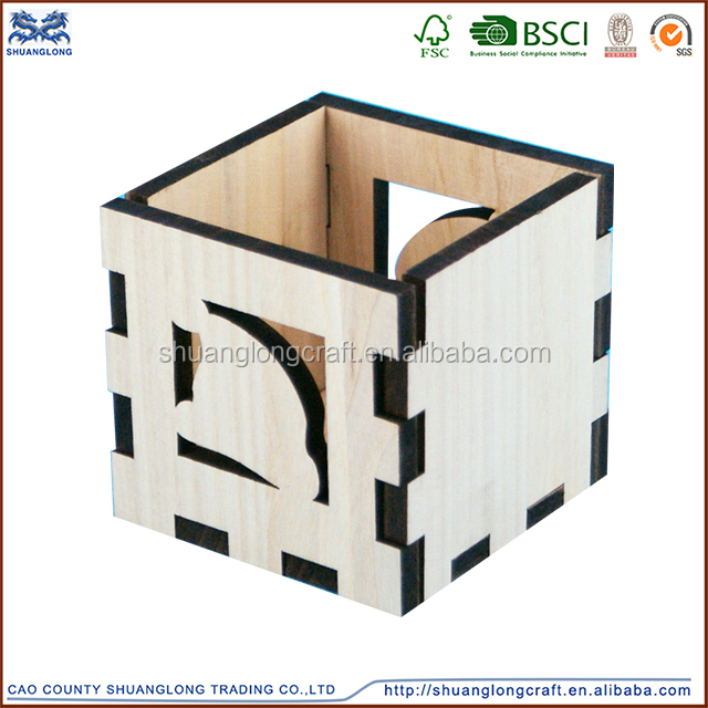 Unfinished factory new design competitive price wooden pencil case Wood Pencil Box