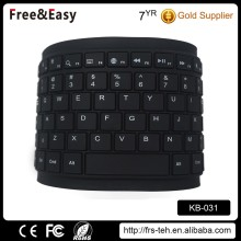 Foldable soft bluetooth silicone keyboard
