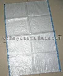 bags cement in polypropylene woven bags