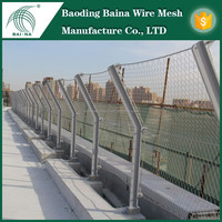 resistant to corrosion SS 316L woven rope wire mesh/stainless steel flexible cable rope netting / cable wire netting