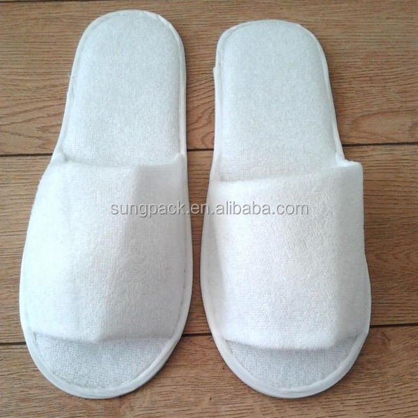 Personalized terry towelling thong slipper for hotel and spa