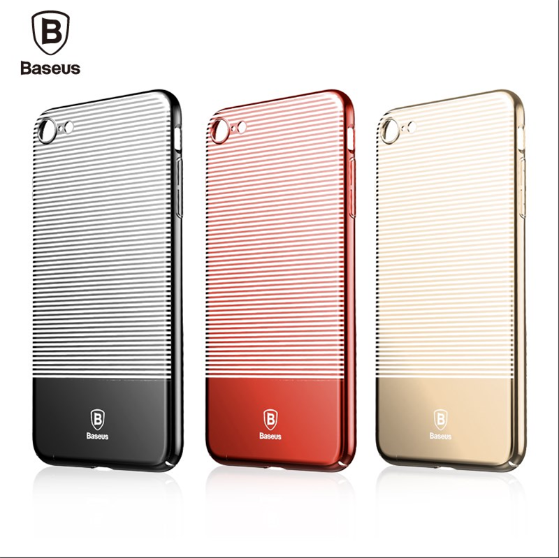 Baseus Luminary Series 4.7 inch Ultra Slim Case for iPhone 7 Stripe Design Protective Back Protector Cover Original Phone Cases