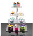 Acrylic Tiered Cake Stand, Dessert Or Cupcake