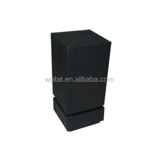 2015 The Cube High Glossy Black Vinyl Paper Wrapped Wooden Jewellery Box