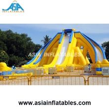 High Quality Giant Inflatable Beach 3 Lanes Trippo Water Slide For Adult