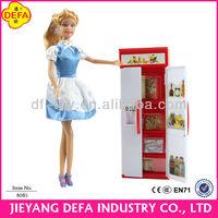 DEFA LUCY Real-like Kitchen Play Accessories Set Toy Doll