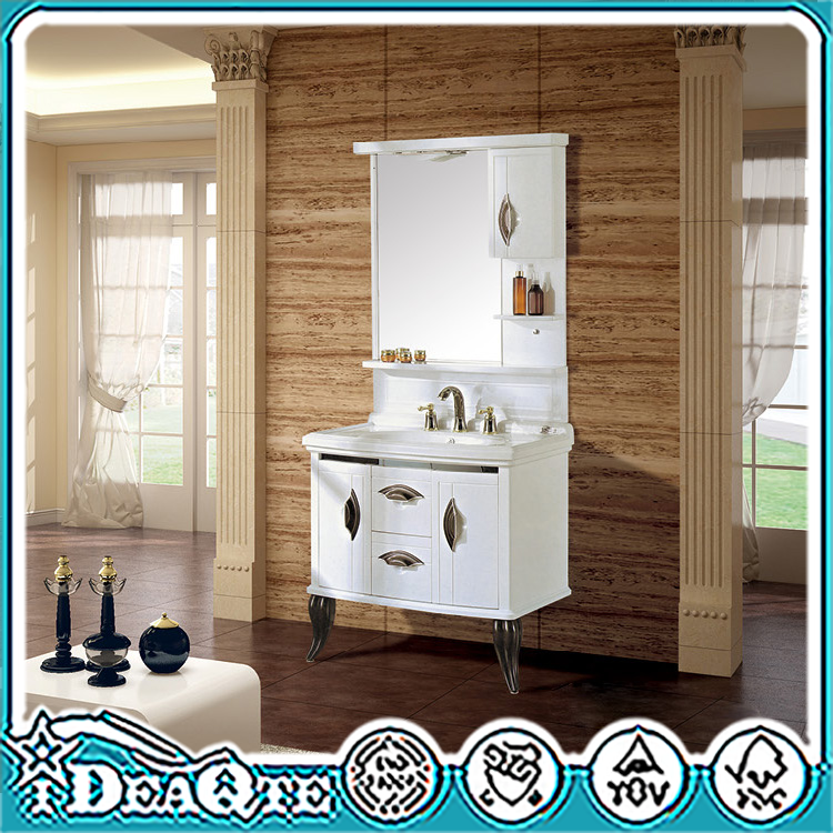 Wholesale Furnitures Floor Mounted Fireproof And Waterproof PVC Wash Bathroom Vanity CabinetHanging PVC Vanity <strong>Oak</strong> Wood Free Sta