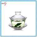borosilicate clear tea cups and lid saucers cheap