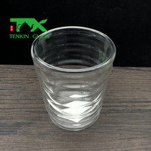 Remarkable design delicate heat resistant pyrex glass insulated cup