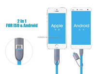 Sync Data USB cable For iPhone SE 5 5S 6/6s 6 plus 2 in 1 charging cable For Samsung Android and other smartphones Data line