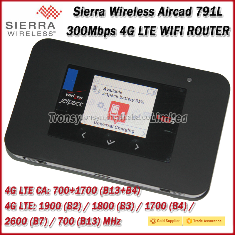 "New Arrival Original 300Mbps Sierra Wireless Aircard 791L Cat6 4G LTE Modem WiFi Router With 1.77"" LCD And 4340 mAh Battery"