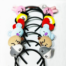 Hot Cartoon Plush Children Girls Cute BT21 Hair Jewelry Headband Kpop Stars Head Jewelry