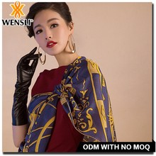 nepal cashmere manufacturer women 100% silk scarf big square 2016 custom print silk scarf, stripes imitated silk scarf