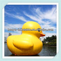Advertise inflatable cartoon inflatable ducks model inflatable yellow duck for sea lake pool