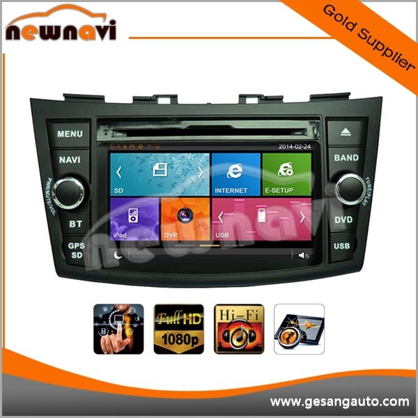 OEM/ODM manufacturer Portable Car GPS Navigation car audio for SUZUKI SWIFT with Wince 6.0 BT DVR IPOD 1080P AM/FM