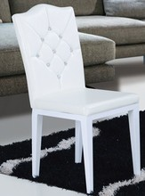 2013 new design PU backrest and wooden leg dining chair