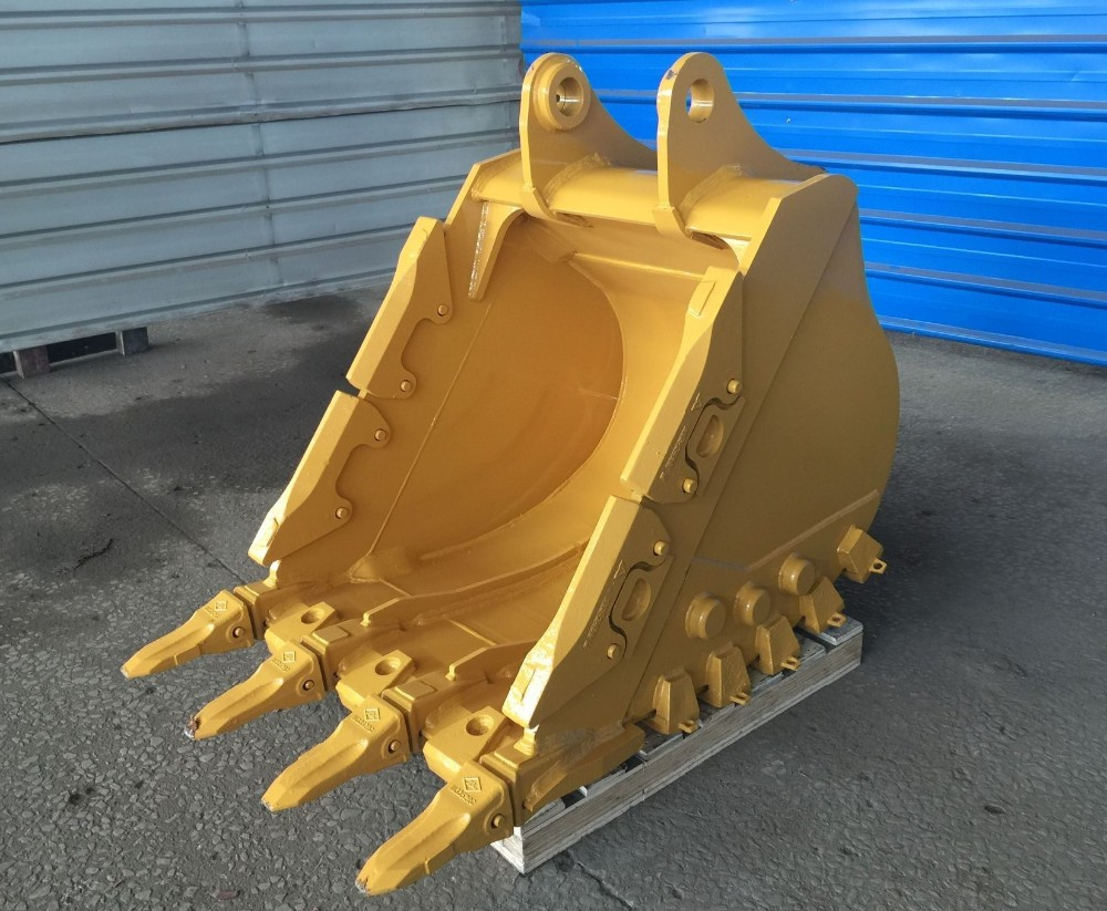 Wear-resistant steel excavator rock bucket