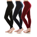 Lady's winter fleece lined sport fitness legging yoga leggings