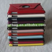 2014 Colorful leather i_pad 3 case with 360 degree rotating
