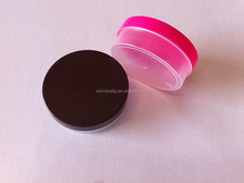 Hot sale small plastic container with lid for cosmetic / plastic cosmetic jar with nice factory price