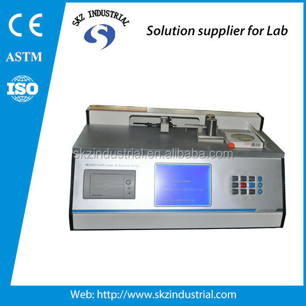 Plastic dynamic static friction coefficient of friction tester