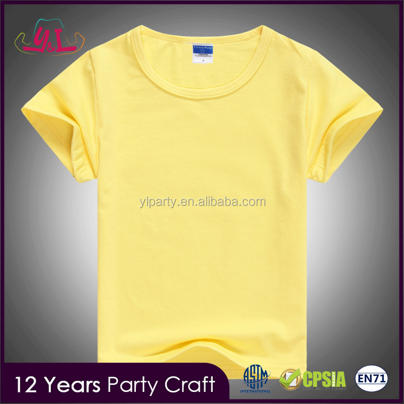 2017 Trending custom T shirt manufacturer bangladesh products for kid white t-shirt