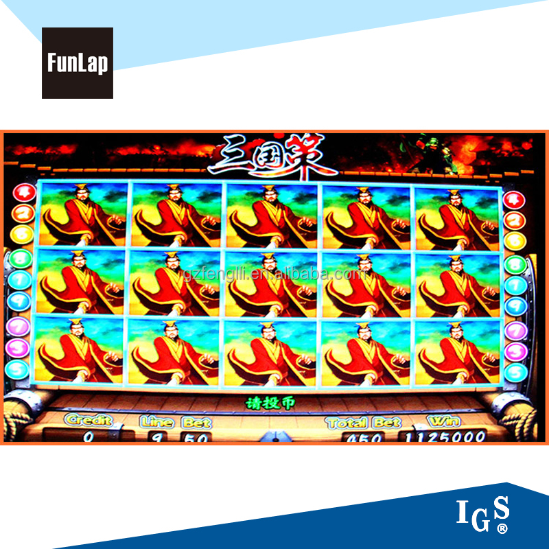 Popular bingo game electronic vedio game machine for game center-Three Kingdoms