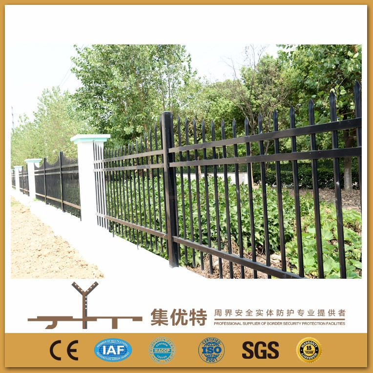 New design applied for school PVC coated steel cheap wrought iron fence