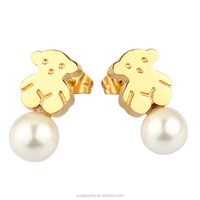 wholesale fashion statement jewelry shell pearl drop earrings china supplier