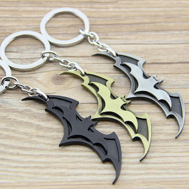 1PCS New Arrival Super Hero Superhero Marvel Batman Bat Metal Keychain Pendant Key Chain Chaveiro Key Ring KT195