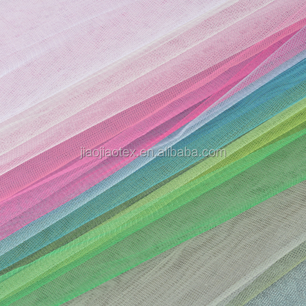 Knit Polyester Transparent Tulle Mesh Fabric for Children Dress