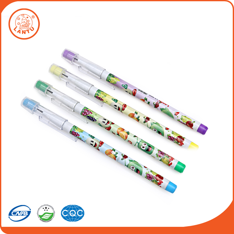 Lantu China Supplier Manufacturer Fruit Pattern Push Type Bullet Pencil