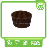 Alibaba china design reusable silicone custom coffee cup sleeve