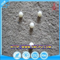 Custom solid small white plastic balls