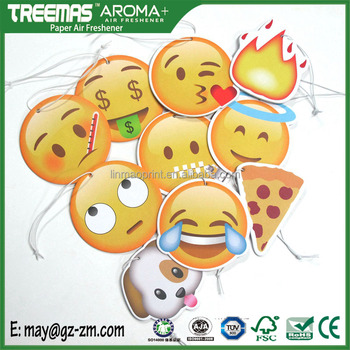 Best selling cartoon hanging emoji air fresheners funny car air freshener