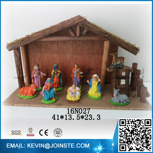 Christmas nativity figurines,christmas nativity wood house